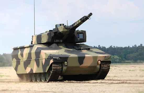 Rheinmetall's Lynx with Australian camouflage.
