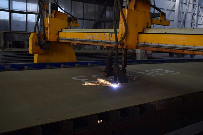 Cutting-of-the-first-steel-plate-of-BN803