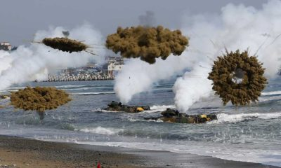 Washington, Seoul and Tokyo began two-day joint military exercises
