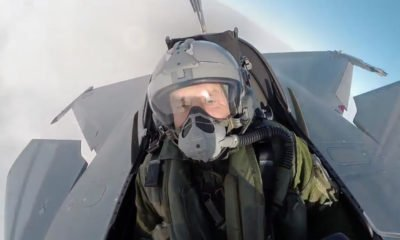 The President Rumen Radev pilots French fighter jet Rafael Dassault
