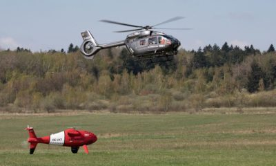 MUM-T between Schiebel's Camcopter S-100 and an Airbus' H145