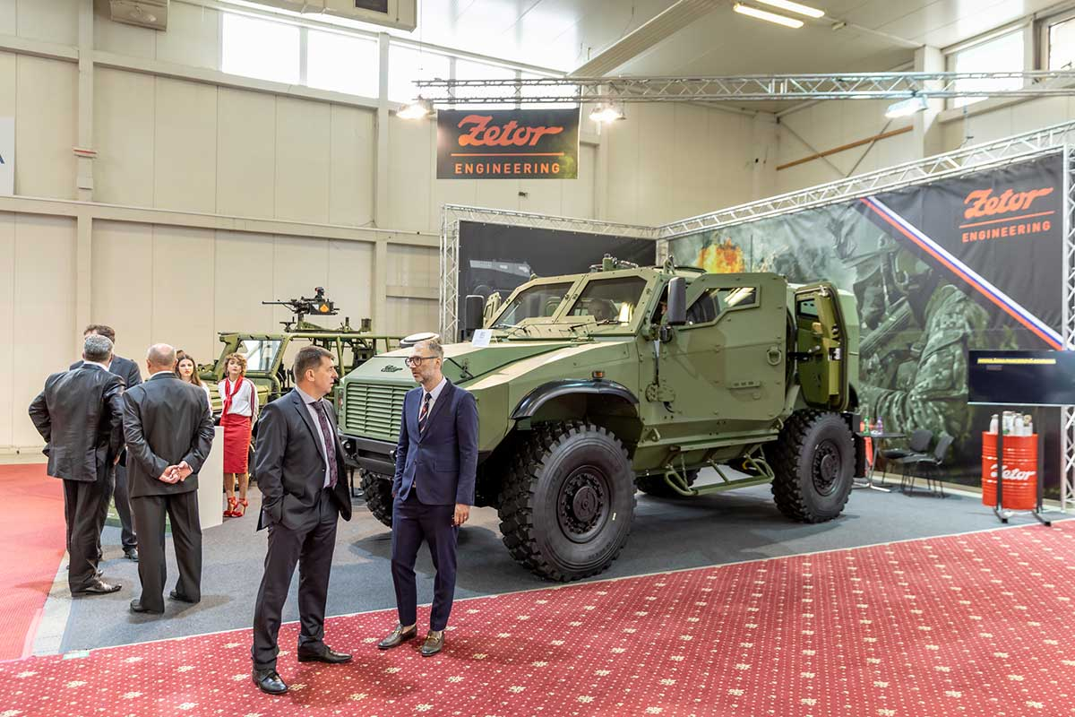 Zetor Engineering Presents Its Tactical Vehicles GERLACH and FOX at IDEB 2018