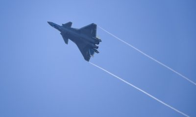 First Sea Training for the China-Made J-20 Stealth Fighter