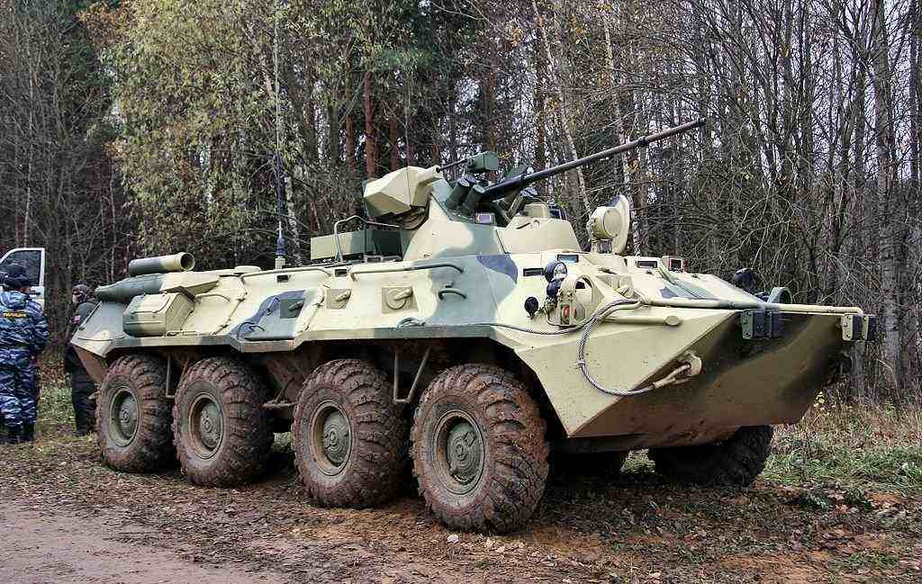 The Kamchatka Marine Formation of Russia Received New BTR-82A APCs