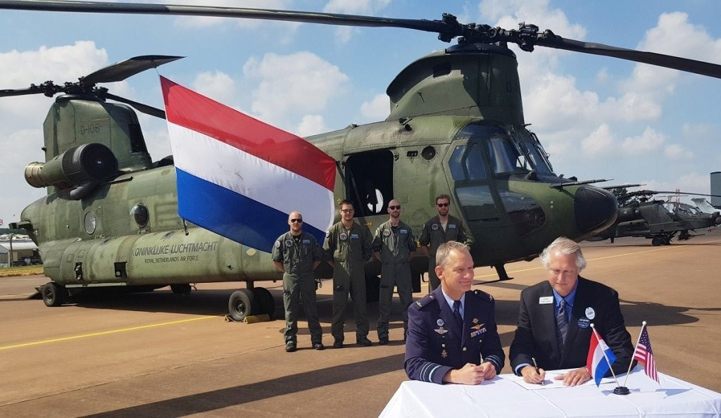 Boeing Will Sustain the AH-64 Apache and CH-47 Chinook Helicopters of the RNAF