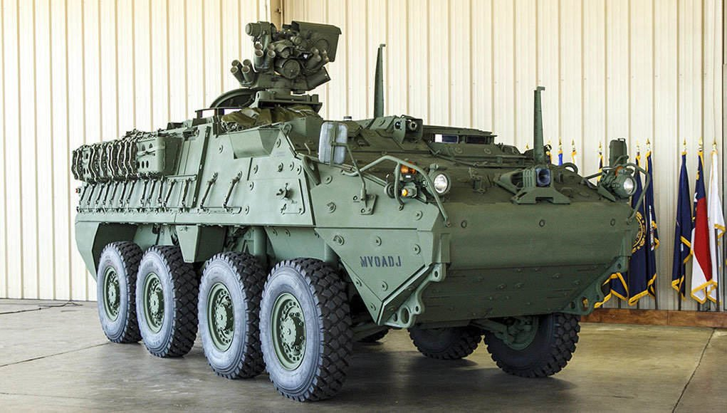 General Dynamics Land Systems Will Upgrade 116 Stryker Vehicles of the US Army