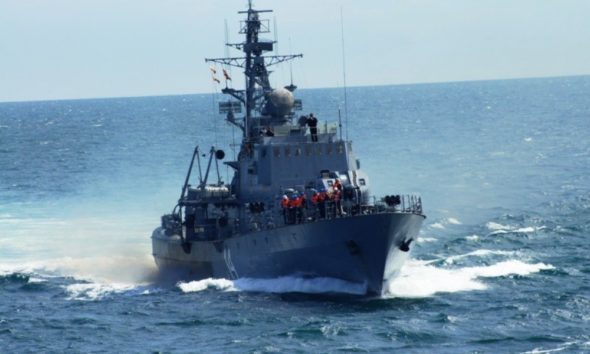 The Bulgarian Navy Corvette Bodri Is Participating in Sea Breeze 2018