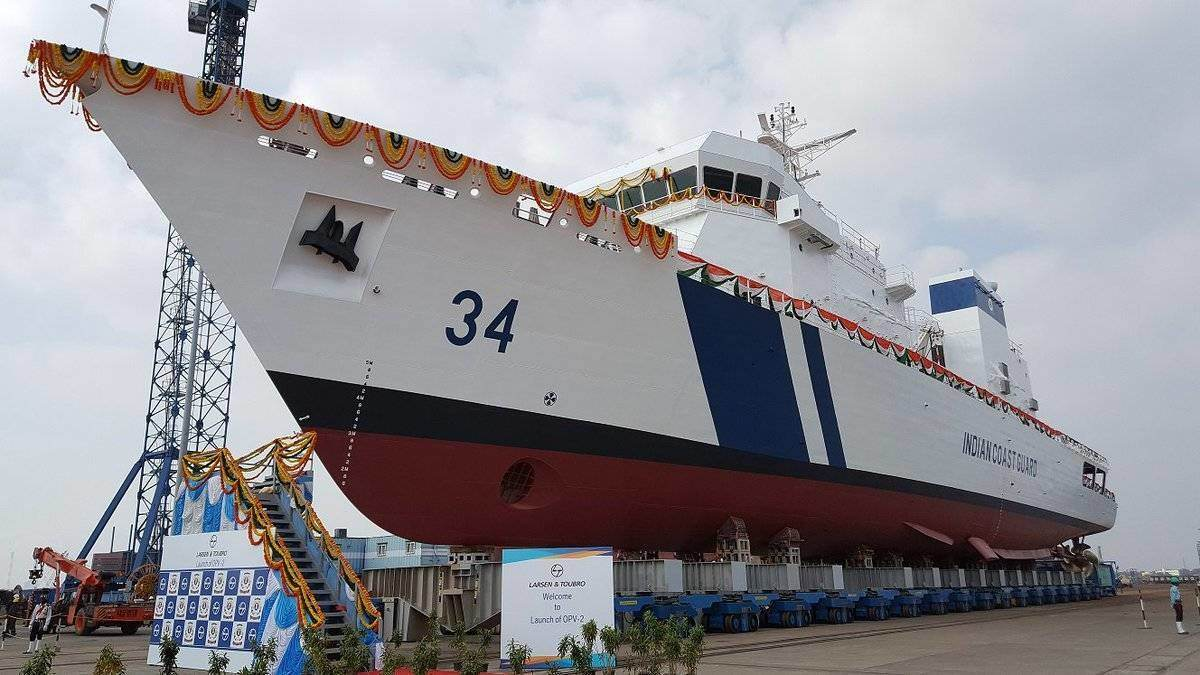 larsen-toubro-delivers-the-opv-2-icgs-vijaya-to-the-indian-coast-guard