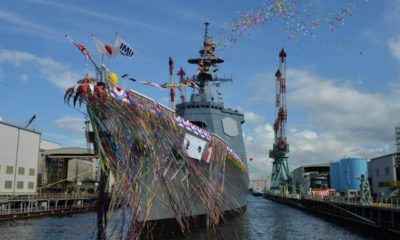 The First of Two 27DDG Destroyers Ordered by Japan Is Launched