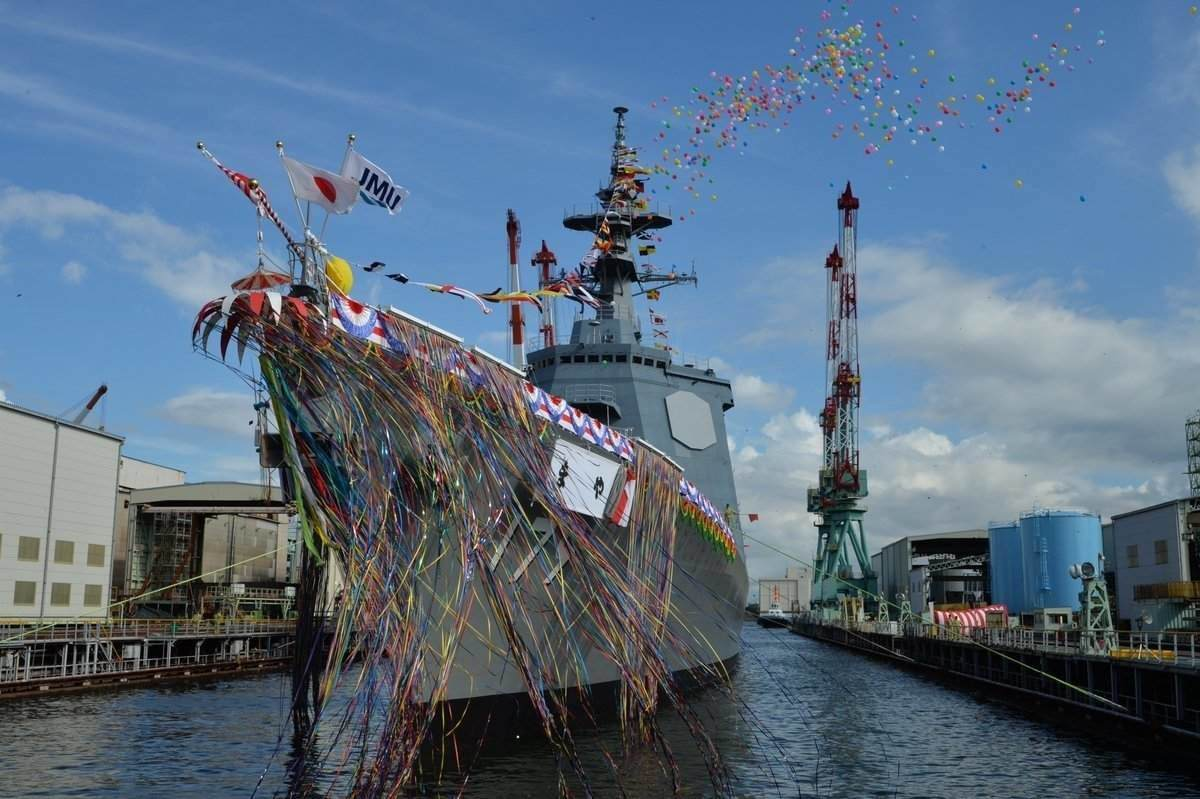 the-first-of-two-27ddg-destroyers-ordered-by-japan-is-launched