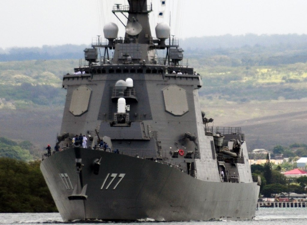 Another Successful Test of the Japanese Aegis Destroyer Atago