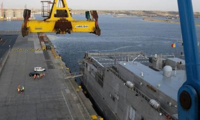 The High-Speed USNS Carson City Is Tested on the Black Sea for Logistics Purposes