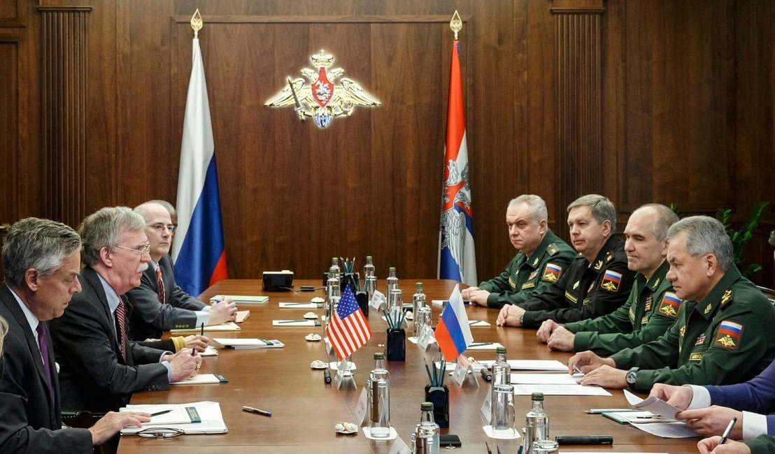 Russia's Defence Minister Held Talks with the U.S. National Security Advisor John Bolton