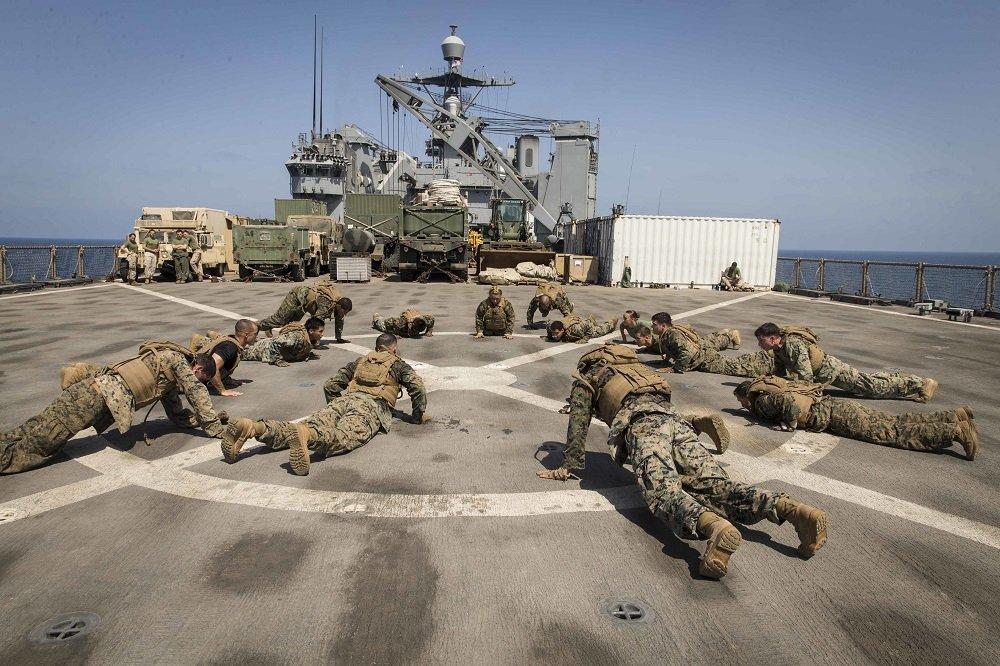 Marines on MAI PT and spar