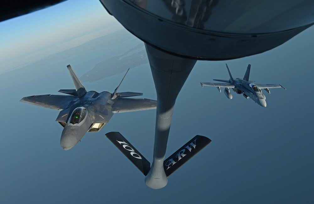 100th Air Refueling Wing supports U.S. F-22 and Finnish F-18s