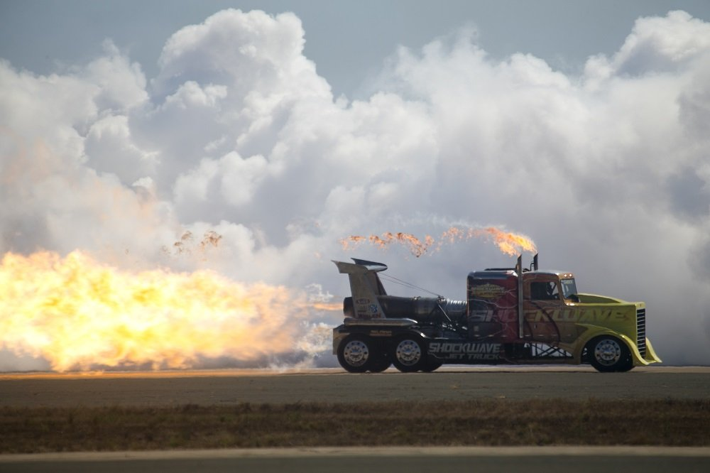 Shockwave Jet Truck at the 2018 MCAS Miramar Air Show