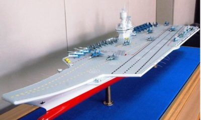 KSRC Proposes a New Design for the Future Russian Semi-Catamaran Aircraft Carrier