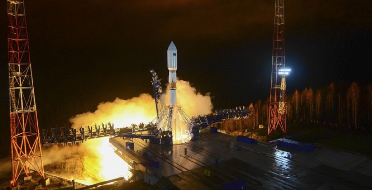Russian Aerospace Force Launched Soyuz 2.1b Rocket with a New Glonass-M Navigation Satellite