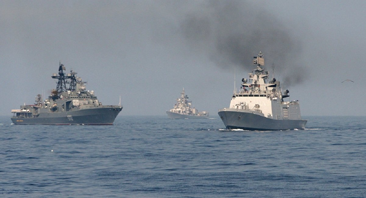Russian and Indian Navies Kicked Off their Joint Maritime Exercise Indra Navy 2018