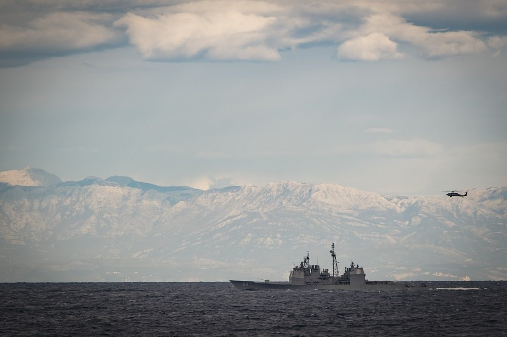 USS Normandy visits Adriatic Sea