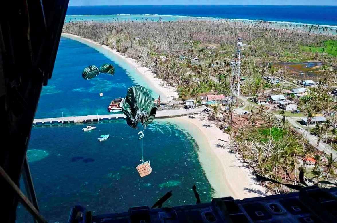 RAAF Sends a C-130J Hercules Aircraft to Guam for Operation Christmas Drop 18