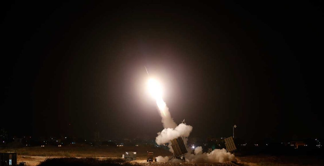 Because-of-tension-on-the-north-and-south-borders,-Israel-has-deployed-an-Iron-Dome-rocket-interceptor-system