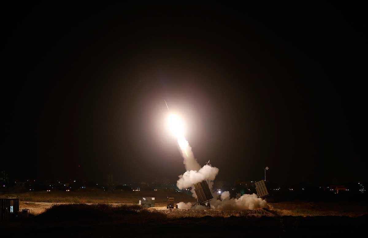 Because of tension on the north and south borders, Israel has deployed an Iron Dome rocket interceptor system
