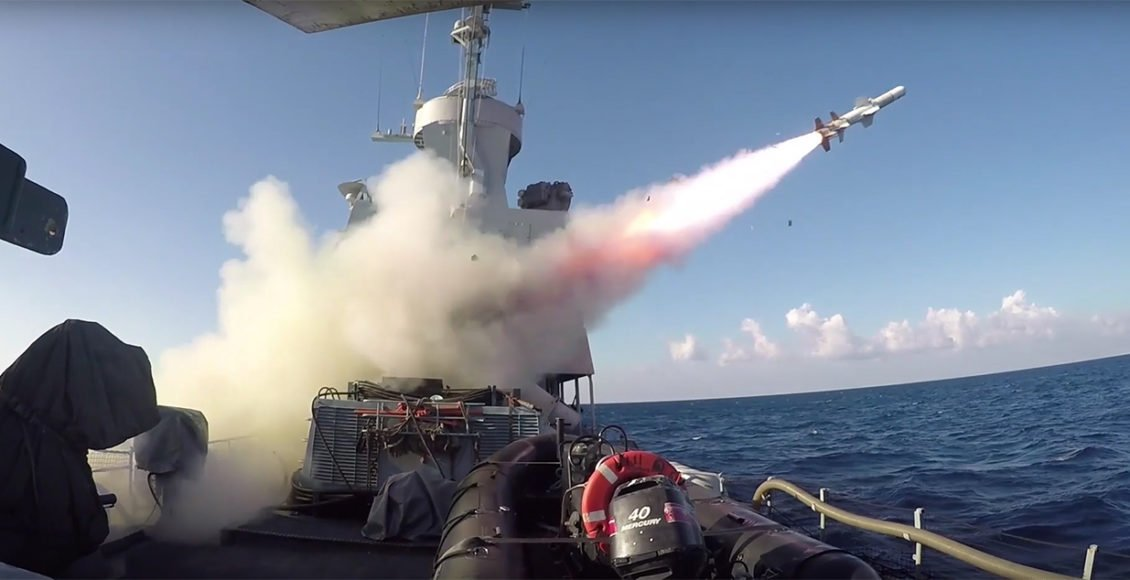 Israeli-navy's-SAAR-4.5-missile-boats-launched-Sea-–-Sea-Harpoon-missiles-(Video)