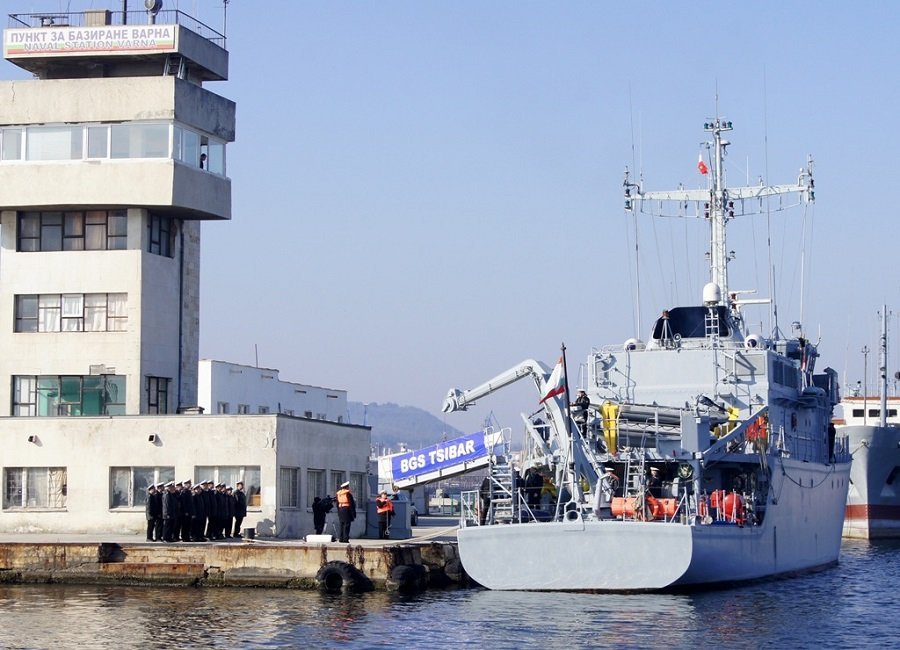 "The Bulgarian Minehunter ""Tsibar"" Joined the Units of Standing NATO Mine Counter Measures Group Two (SNMCMG2)"