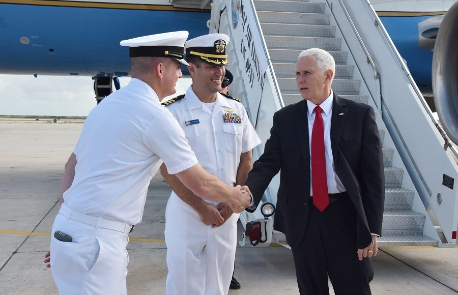 Vice president, second lady arrive at NAS Key West