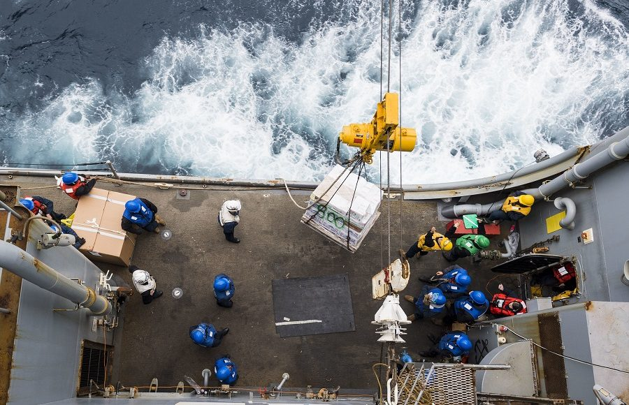 Replenishment-at-sea with USNS Diehl
