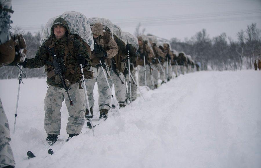 U.S. Marines Ski Hike