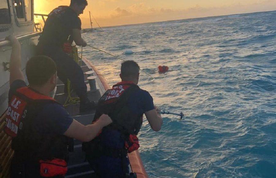 Coast Guard rescues 2 from sinking vessel near Key Largo