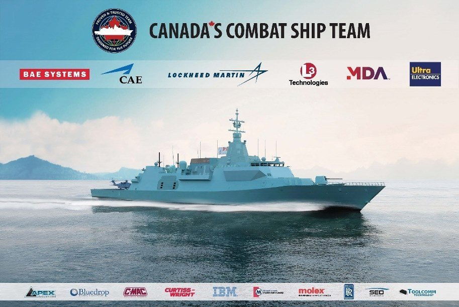 The Canada's Combat Ship Team Received Canadian Surface Combatant Contract