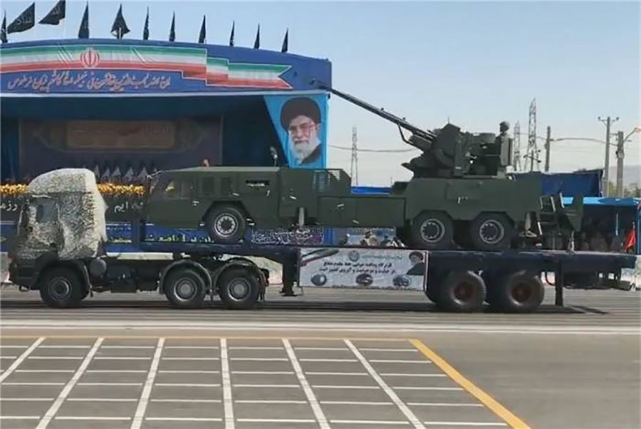 Iran-Showed-its-Own-New-Made-35-mm-Anti-aircraft-Weapon-System
