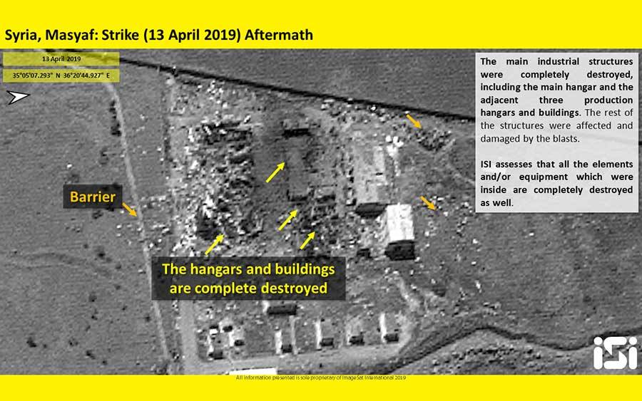 Satellite-Images-Captured-by-the-ISI-Reveal-the-Damage-to-the-Attacked-Syrian-Base