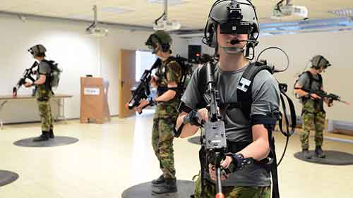 Military Training Simulator with the Use of VR Goggles