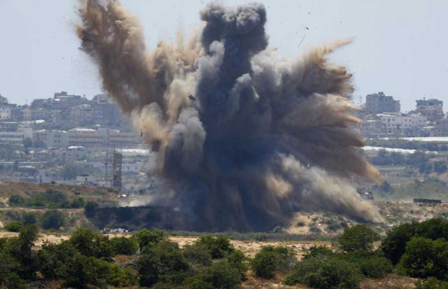 The-Gaza-Strip-Palestinian-Citizens-Are-Killed-After-Israeli-Air-Attacks-on-Saturday