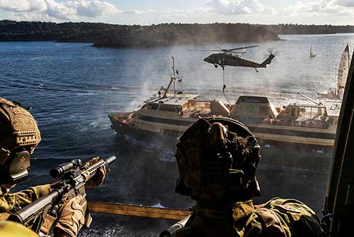 Australian Commandos Attack and Take a Ferry Under Control in Military Exercise (Photos)