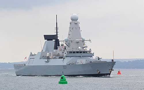 The-British-HMS-Duncan-Warship-Arrives-Near-to-Iran