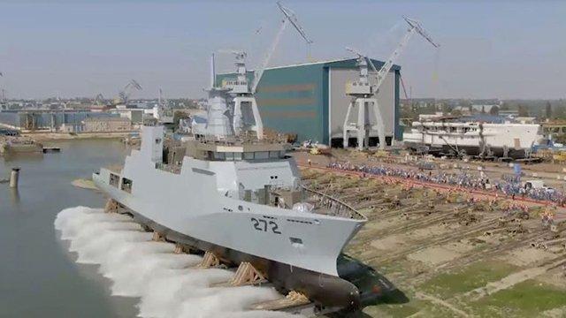 Dutch-shipbuilder-Damen-launched-the-second-corvette-to-Pakistan-Navy