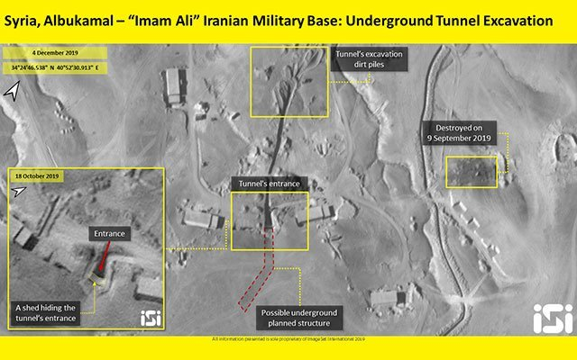 Satellite footage shows a secret Iranian weapons storage tunnel in Syria (photos)
