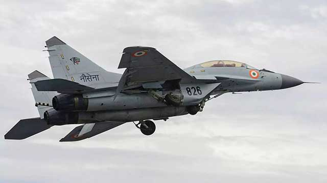 A Russian-made MiG-29 fighter jet of Indian Air force crashed