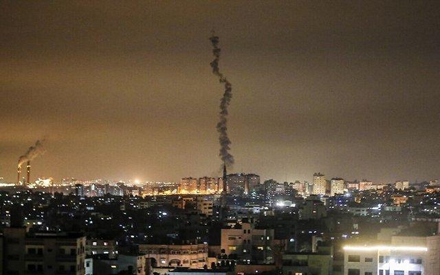 The-Islamic-Jihad-began-large-scale-missile-attack-on-Israel,-IDF-strikes-back