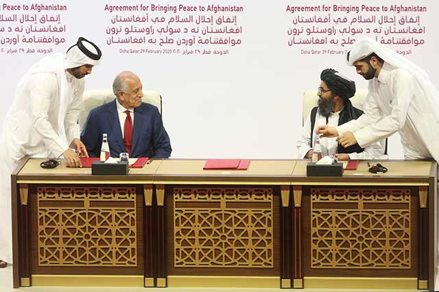 Historical-U.S.-and-Taliban-signed-a-peace-agreement-in-Doha
