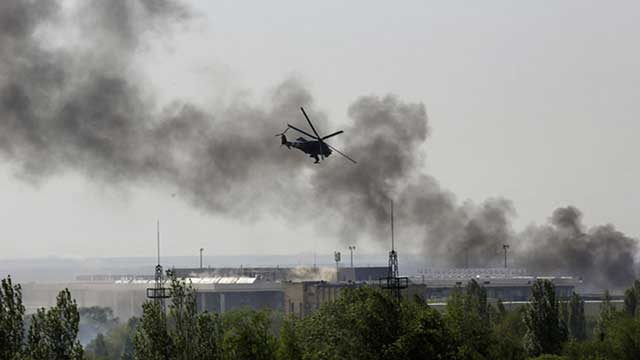 The-Ukrainian-army-has-conducted-artillery-strikes-on-the-outskirts-of-Donetsk