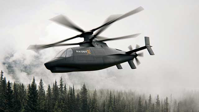 Lockheed's-Sikorsky-introduced-a-high-speed-combat-helicopter-Raider-X