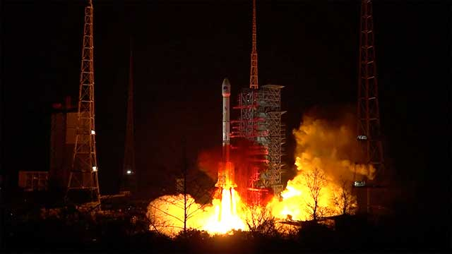 The-launch-of-a-Chinese-rocket-with-an-Indonesian-satellite-failed
