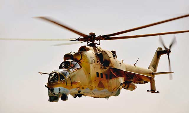 Turkish-missile-system-shot-down-a-Mi-35-helicopter,-the-crew-died