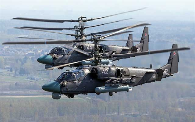 Russia is testing an upgraded Ka-52M helicopter with a new type of cruise missile